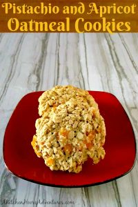 Pistachio and Apricot Oatmeal Cookies #ChristmasCookies