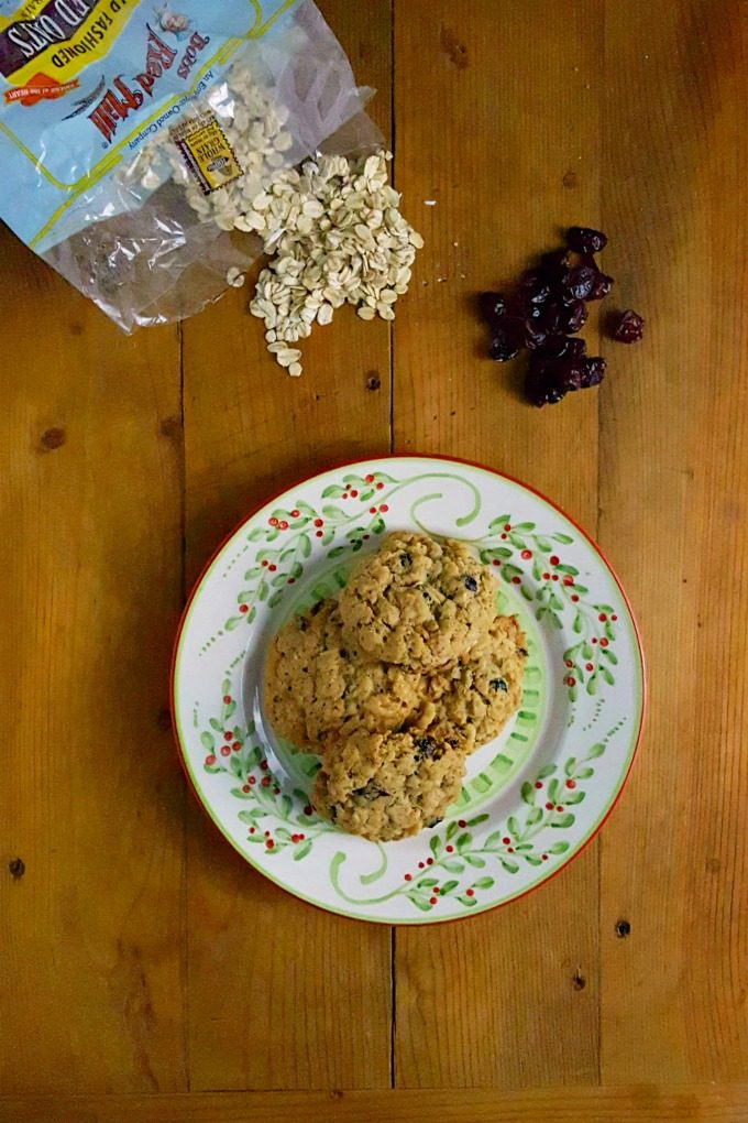 Cranberry Almond Oatmeal Cookies have amazing oatmeal flavor with some tart cranberries and crunchy almonds.