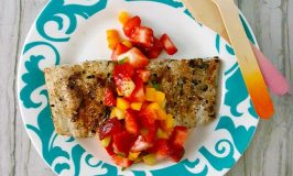 Grilled Fish Topped with Strawberry Salsa