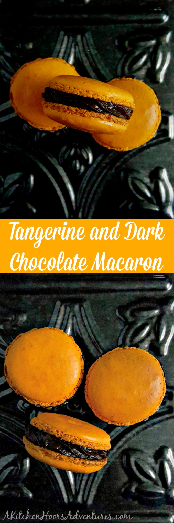 It's not the holiday season without orange and chocolate!  These Tangerine and Dark Chocolate Macaron are seriously crave-able!