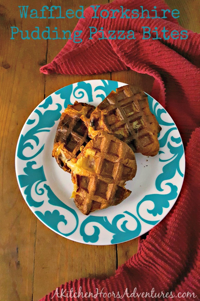 Have leftover Yorkshire Pudding? Make these Waffled Yorkshire Pudding Pizza Bites for your family as a snack the day after.