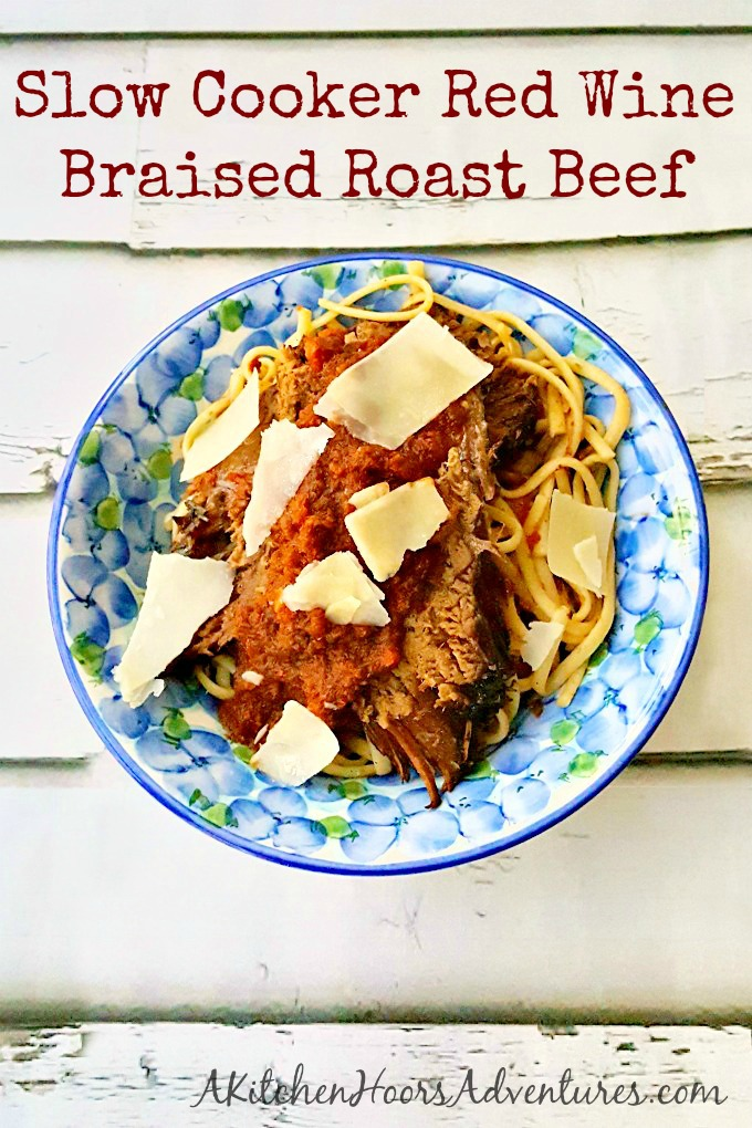 Slow Cooker Red Wine Braised Roast Beef