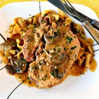Slow Cooker Pork Chops with Mushroom Sauce