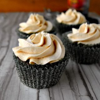 These cupcakes are packed with chocolate stout flavor and Irish cream. Chocolate Raspberry Stout Cupcakes with Irish Cream Buttercream are super chocolaty and topped with feather light and creamy Irish cream buttercream.