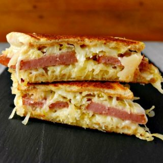 Polish Reuben Grilled Cheese