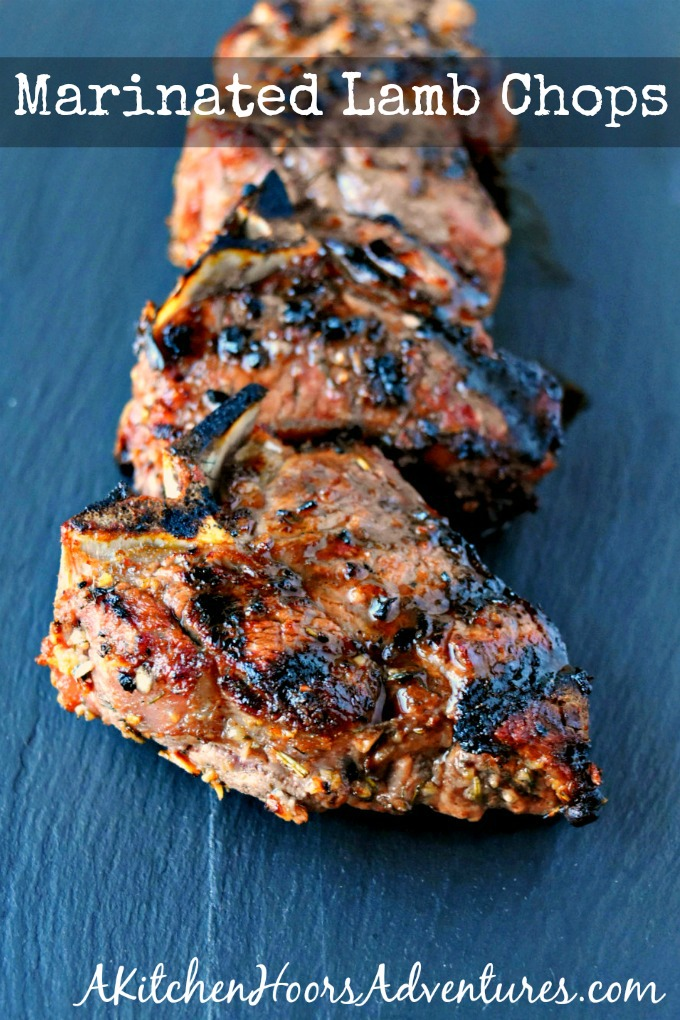 The ultimate meat marinade makes the ultimate grilled meat. Marinated Lamb Chops are packed with delicious flavor and perfect for summer grilling. #BBQWeek