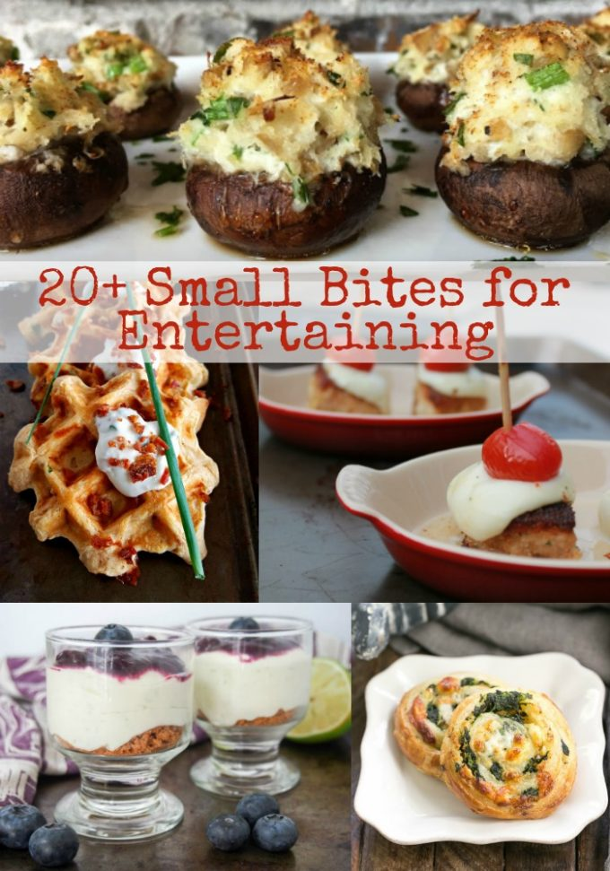 With over 20 small bite recipes I've got you covered for all your summer entertaining and appetizer needs. #SundaySupper