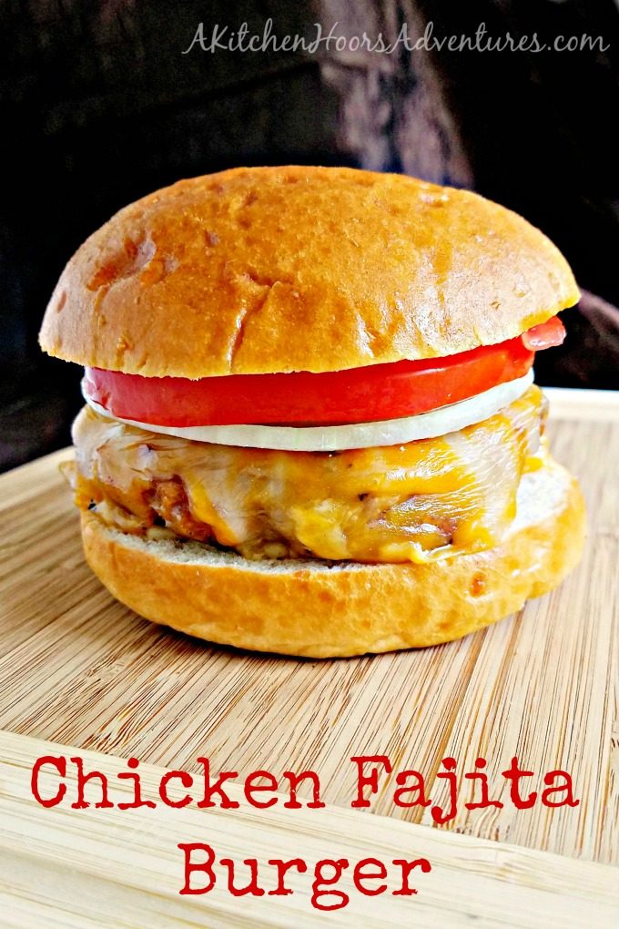 Packed with fajita seasoning and tasty vegetables, these Chicken Fajita Burgers are not only tasty, but healthy, too! Just the thing to keep Dad around for a long time!! #SundaySupper