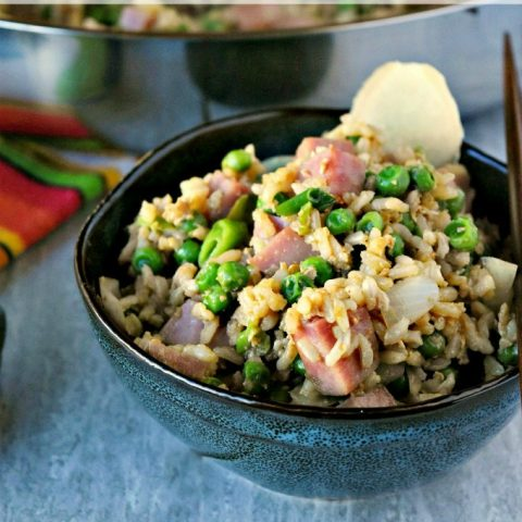 Ham and Pea Fried RIce