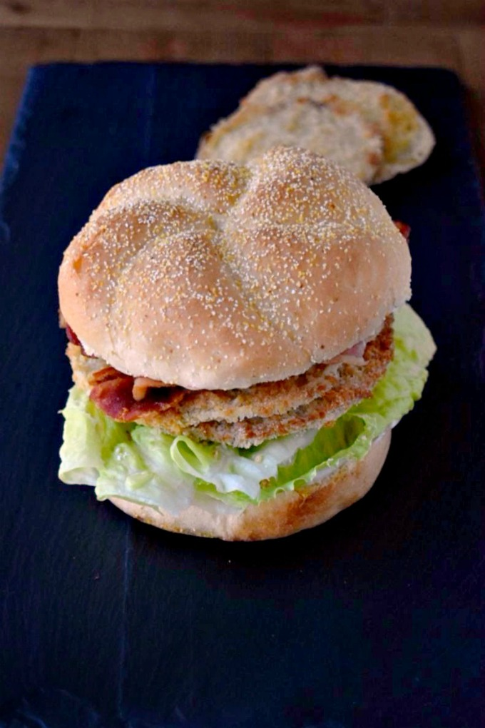 BLFGT Sandwich replaces the vine ripe red tomatoes with the southern staple fried green tomatoes in this classic, simple sandwich! #SundaySupper