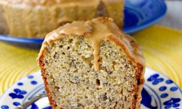 Banana Snack Cake with Peanut Butter Glaze