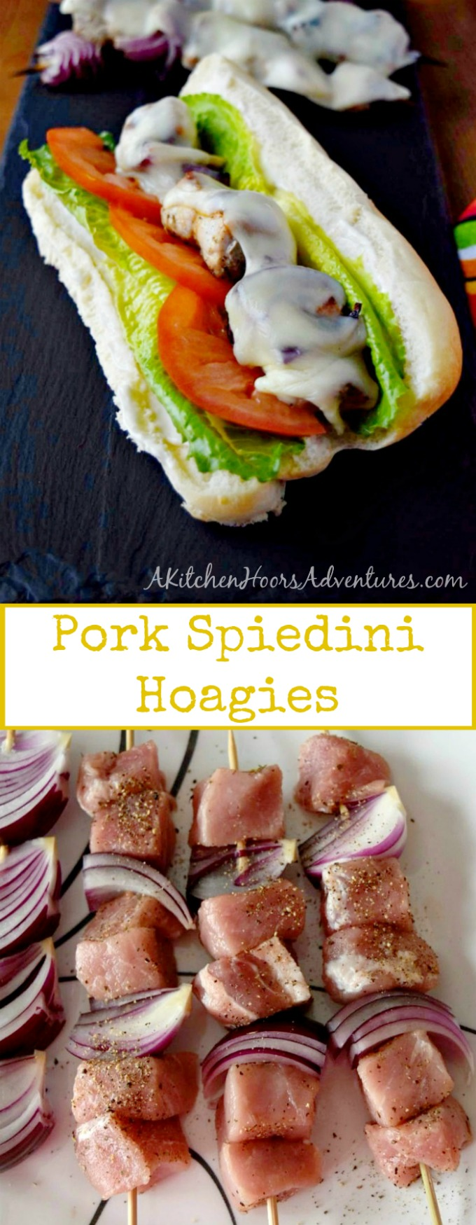 Quick and easy, Pork Spiedini Hoagies assemble in minutes, cook in minutes, and are devoured in seconds! Your family will love how delicious these hoagies are and you'll love how quick they are. #SundaySupper