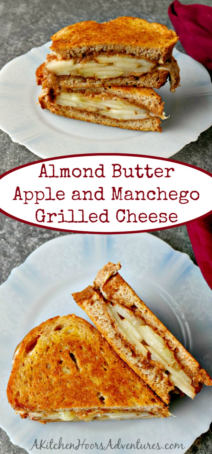 If you're like me, you love apples and peanut butter (or any nut butter)! Apple Almond Butter Manchego Grilled Cheese is sweet, nutty, and salty all in one delicious grilled cheese.