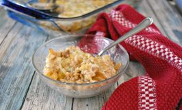 Baked Oatmeal with Apple Cheddar and Sausage
