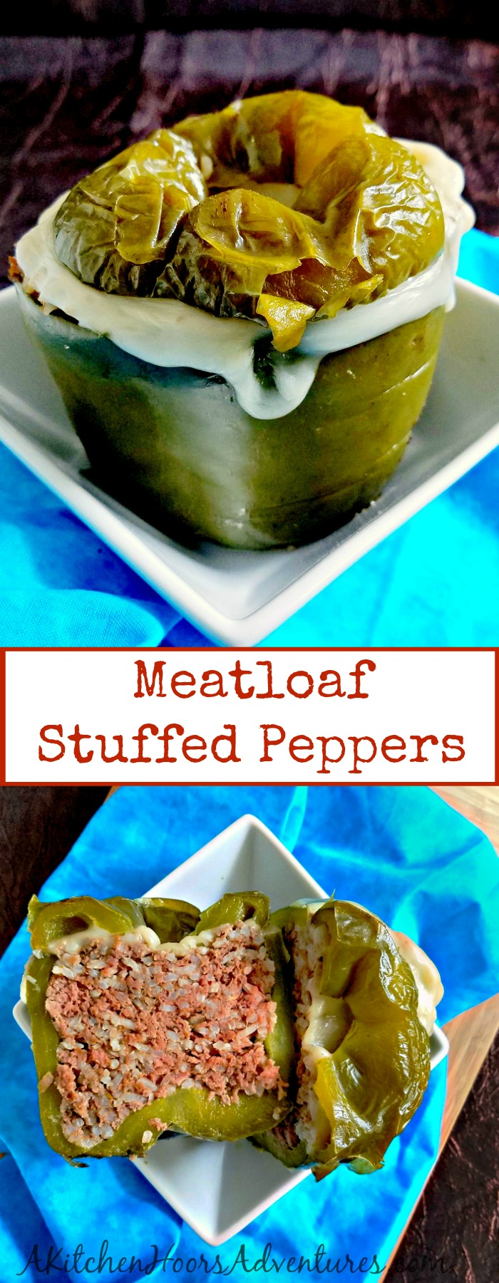 Meatloaf Stuffed Peppers comes together in less time than it takes to preheat the oven but your family will LOVE how delicious it is. #SundaySupper #ricerecipe #easyrecipe #stuffedpepper #healthyrecipe