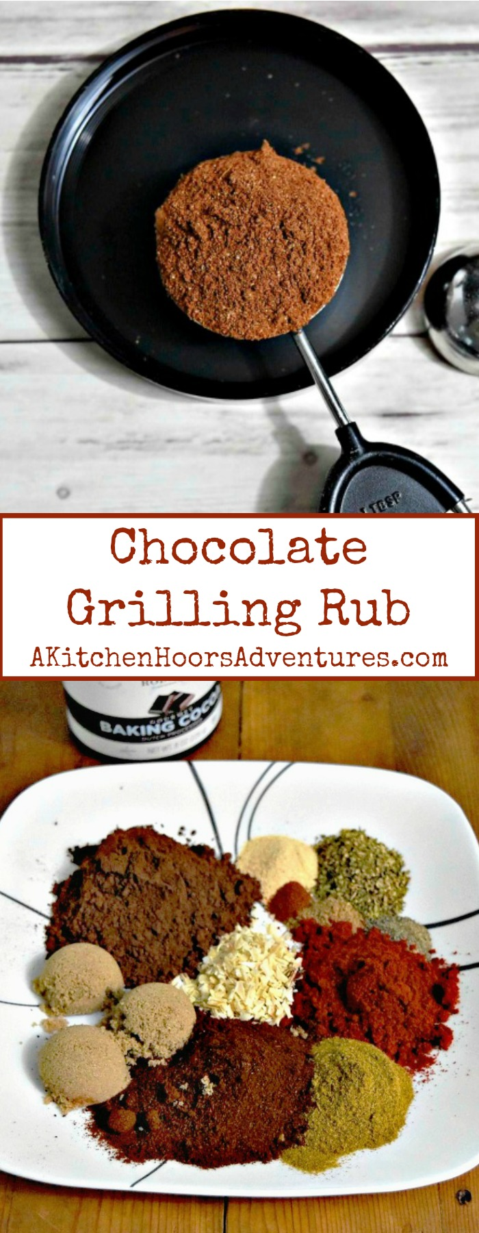 Step outside the sweet comfort zone with cocoa powder and try a grilling rub!  Chocolate Grilling Rub is packed with rich flavor that would complement any grilled meat.