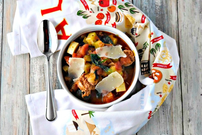 Hearty Vegetable Soup with Tuscan Sausage