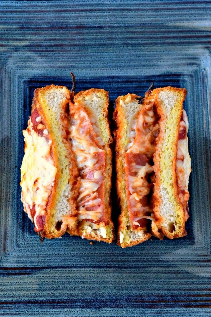 Pizza Stuffed French Toast