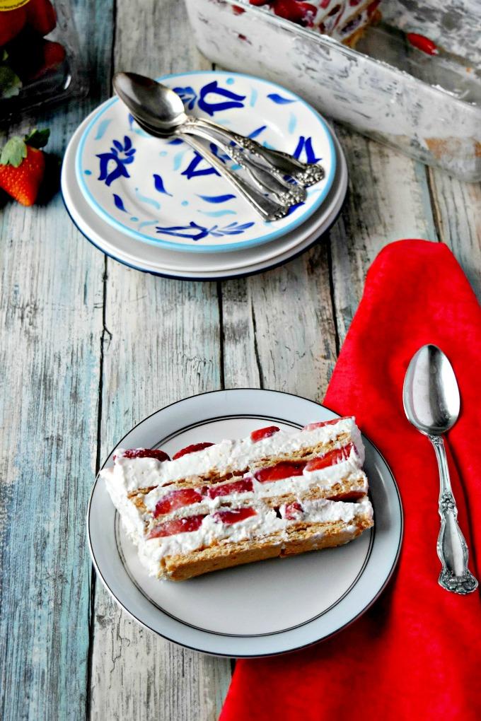 Strawberry Icebox Cheesecake