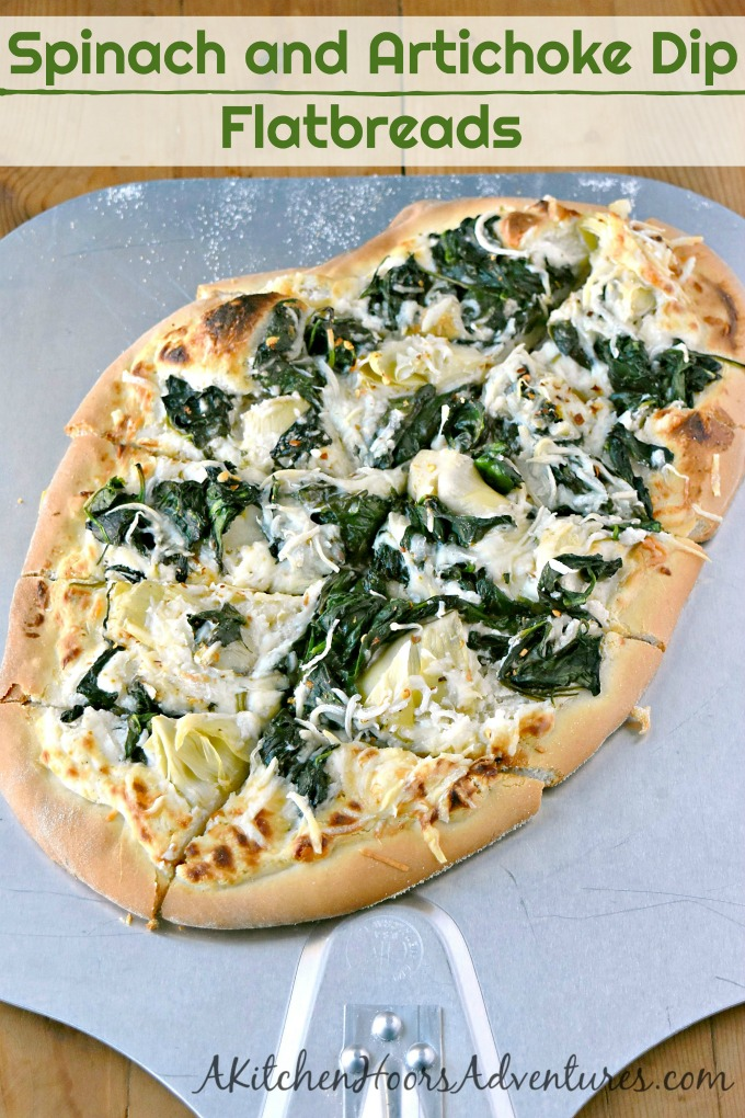 Spinach and Artichoke Dip Flatbreads