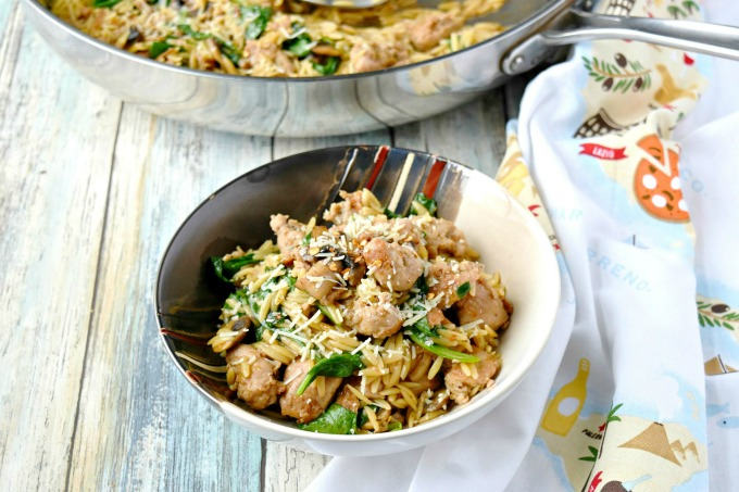 One Pot Italian Sausage Orzo with Spinach has infection-fighting nutrients to help boost your immune system,