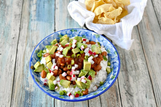 Cottage Cheese and Pinto Bean Salsa