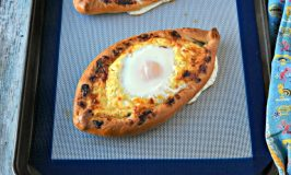 Khachapuri  – Georgian Cheese Bread with Eggs