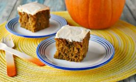 Pumpkin Snack Cake #BrunchWeek