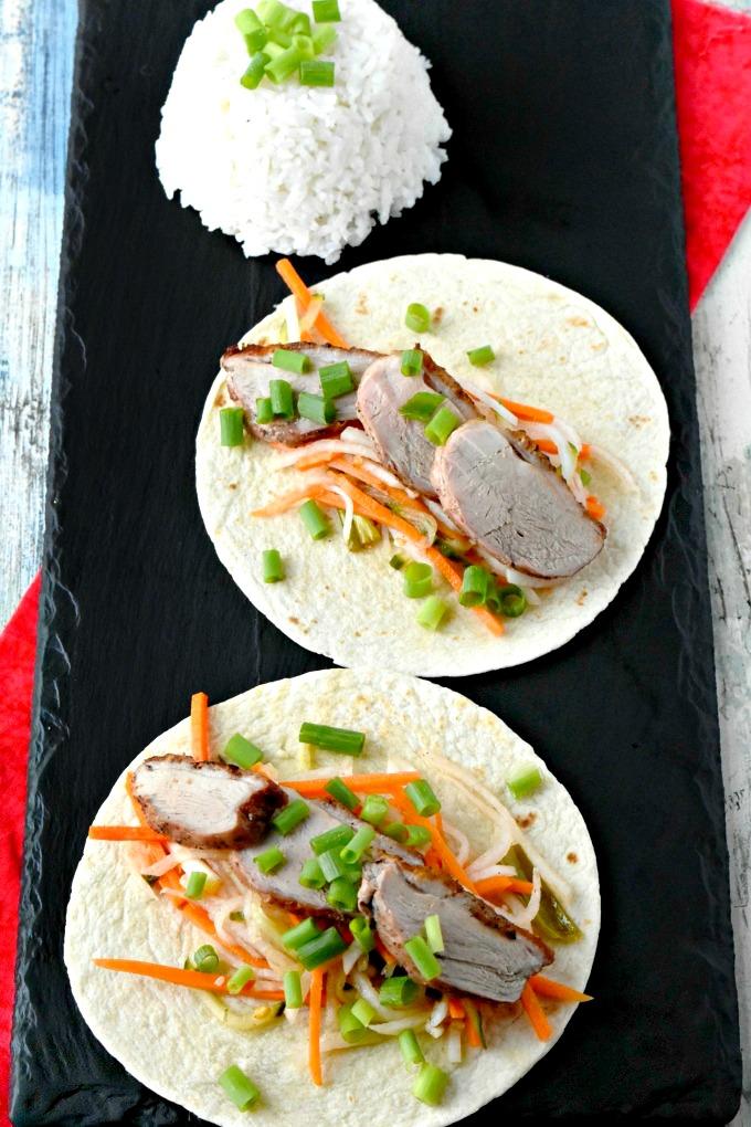Duck Bahn Mi Tacos