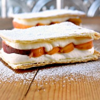 Grilled Peach Napoleons with Easy Bavarian Cream