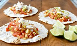 Sweet and spicy apple salsa is the star in these Cheddar Chicken Tacos with Apple Salsa. You can grill chicken or use leftover roasted chicken for the tacos but make sure you get a SHARP Cheddar cheese to complement the sweet and spicy salsa. #AppleWeek