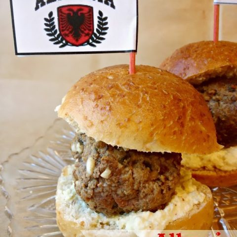 Albanian Qofte (Meatball) Sliders with Feta Aioli