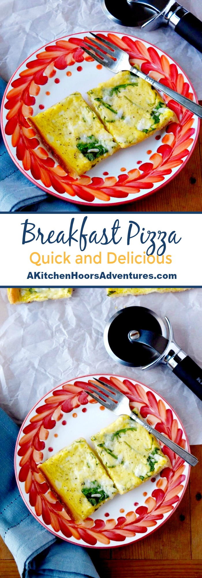 With just a few minutes of prep and a few simple ingredients you can have delicious breakfast on the table.Breakfast Pizza is a fun a easy recipe to whip up for your family. #SundaySupper