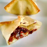 Duck Bacon, Pear, and Brie Baked Wontons