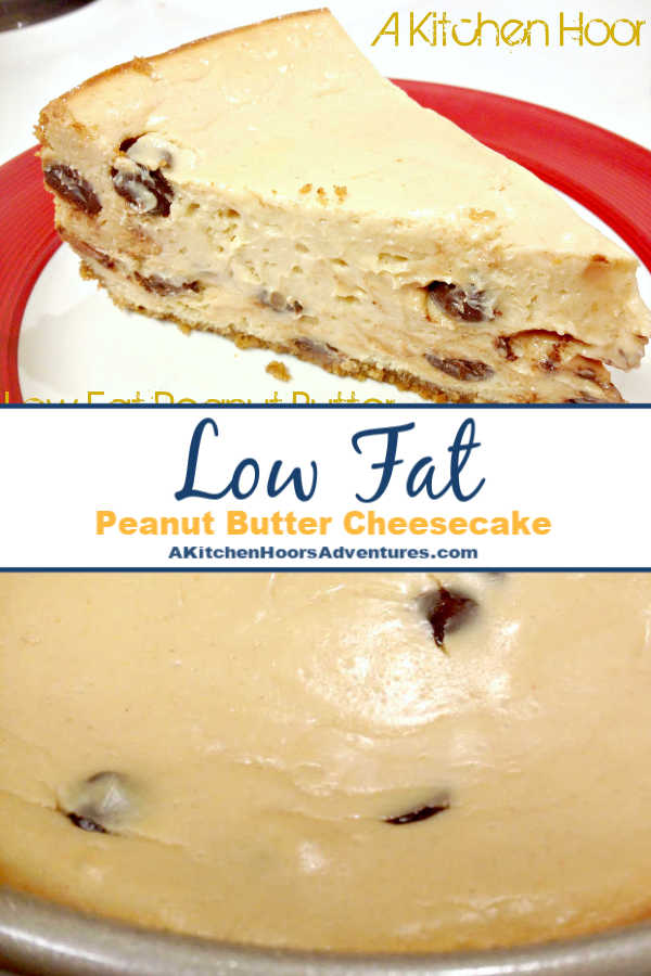 Made with 2 secret ingredients to keep it moist and low fat, Low Fat Peanut Butter Cheesecake is still light, creamy, and addictively delicious.