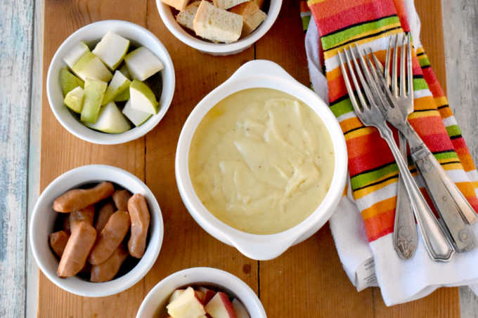 Fondue is a classic recipe for Valentine's Day. It's perfect for dipping, eating, chatting, and spending time with your special someone. This Smoked Gouda Fondue boasts a deliciously smoky flavor you will love.