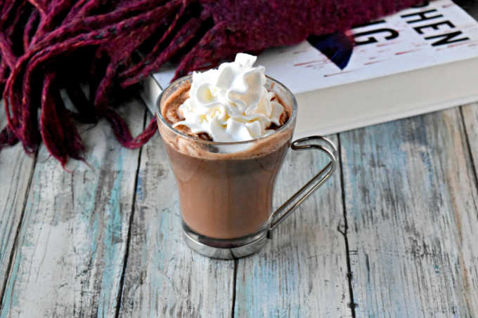 Dark Chocolate Orange Hot Chocolate tastes just like those holiday chocolate orange treats. It so simple and so delicious, it will be your new favorite treat for cool winter nights. #OurFamilyTable
