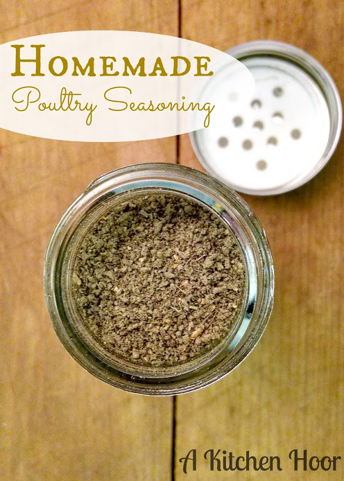 This Homemade Poultry Seasoning is better than your typical store bought variety; it's fresh and has a decidedly different kick.