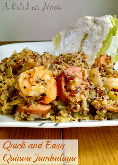 Necessity is the mother of invention with this one. Forgotten rice makes for Quick and Easy Quinoa Jambalaya!