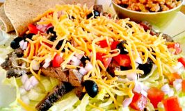 Salt & Pepper Steak Taco Salad