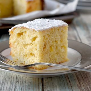 Moist Pineapple Snack Cake is slightly sweet, super moist, and most definitely irresistible. You might want to bake and take so you don't eat it all. But if you do it's okay. It's healthy-ish. #SpringSweetsWeek