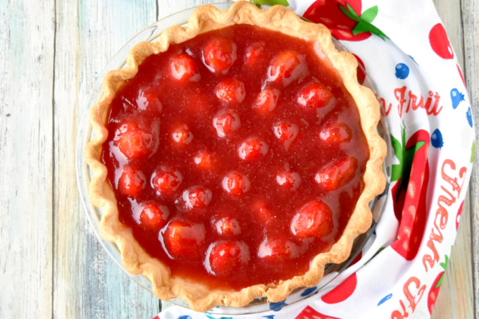 Simply sweet and simply delicious, Strawberry Pie is easy to make and worth every bite.  The fresh strawberries swimming in fresh strawberry jelly are the epitome of spring!