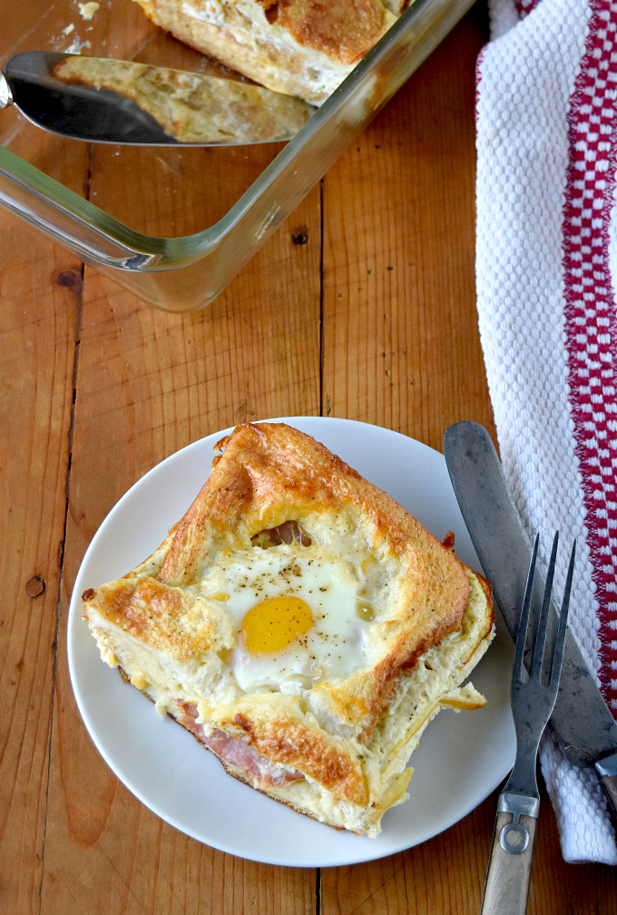 A casserole version of the traditional sandwich, this Croque Madame Casserole for Two is just as delicious. It's easy to throw together, can be made ahead of time, and easily doubled or tripled with ease.