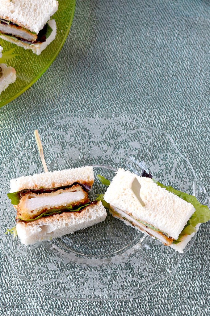 The ever-popular Japanese sandwich is now part of Mother's Day brunch! Katsu Sando Finger Sandwiches are easy to make and fun to eat. Topped with tonkatsu style mayonnaise, they pack a flavor punch for Mom. #OurFamilyTable