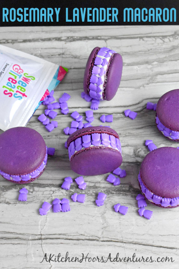 Rosemary Lavender Macaron will not smack you in the olfactory!  There's a just enough of each to give that delicate hint of these two delicious flavors.