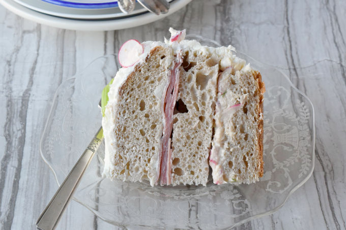 Surprise your brunch guests with a different kind of cake; a Sandwich Cake (Smörgåstårta). #BrunchWeek