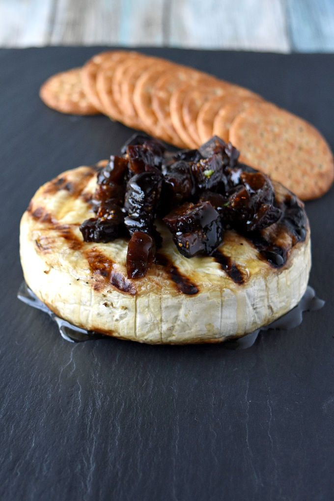 Grilled Brie is a simple appetizer that looks impressive at any barbecue party or get together. #BBQWeek