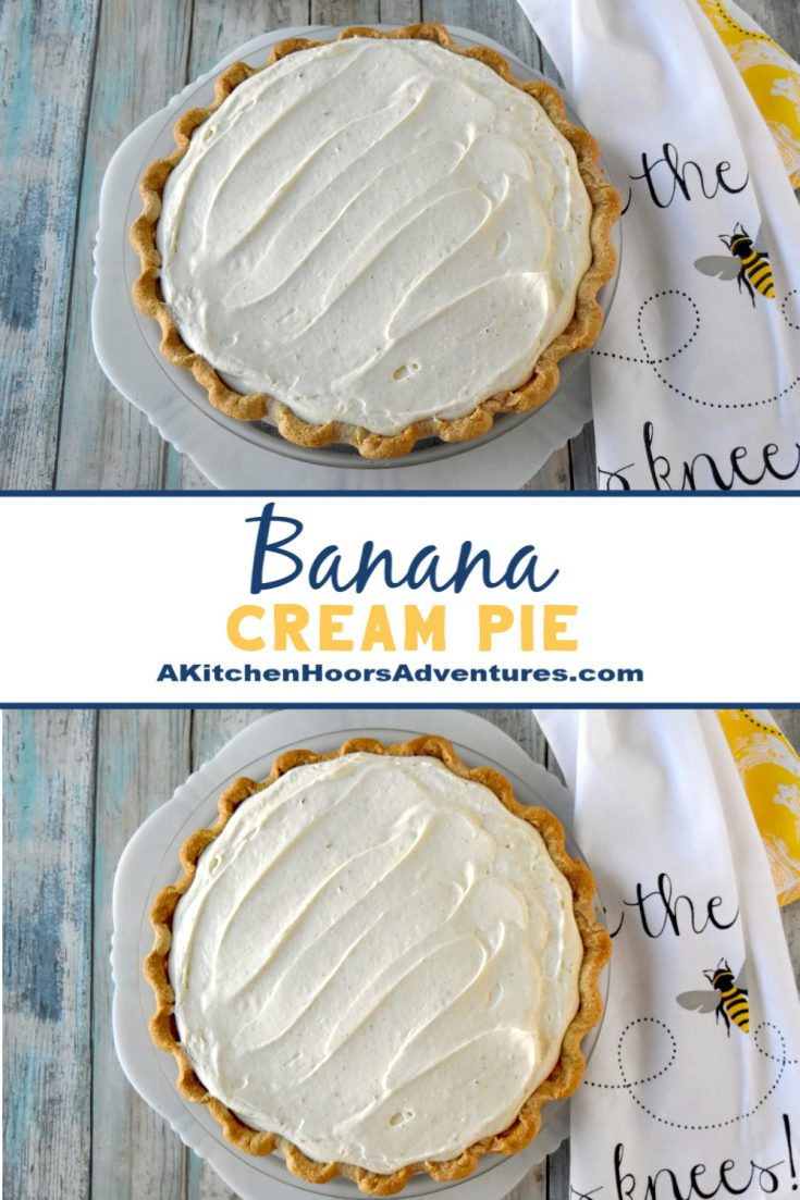 Banana Cream Pie is the show stopper at any barbecue. It's easy to prepare and tastes creamy and delicious. #SummerDessertWeek