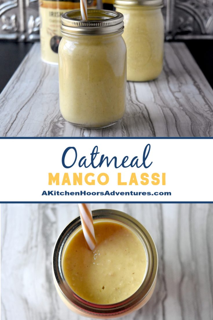 Oatmeal Mango Lassi is a perfectly delicious smoothie to drink the same day or the next day.  The steel cut oats add a delicious, nutty flavor to the lassi.