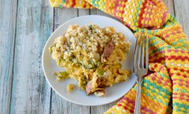 At just a little over $5.00 for the whole meal, Broccoli Mac Kielbasa Casserole will fill your family of four up with hearty, healthy-ish ingredients. #HungerActionMonth